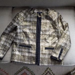 Lands' End Gold With Black Trim Jacket Size 4